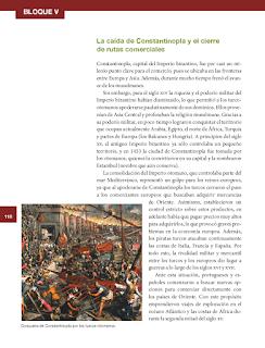 La caída de constantinopla y el cierre de rutas comerciales - Historia 6to Bloque 5 2014-2015