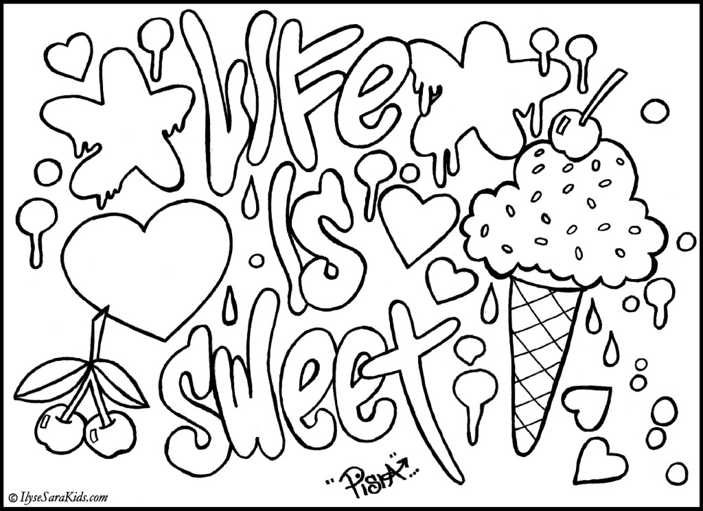 Graffiti Coloring Pages Design Ideas