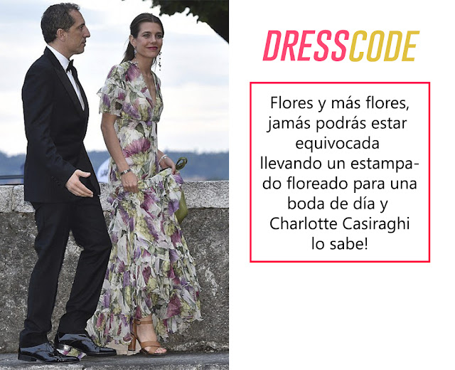charlotte casiraghi style flowers pattern