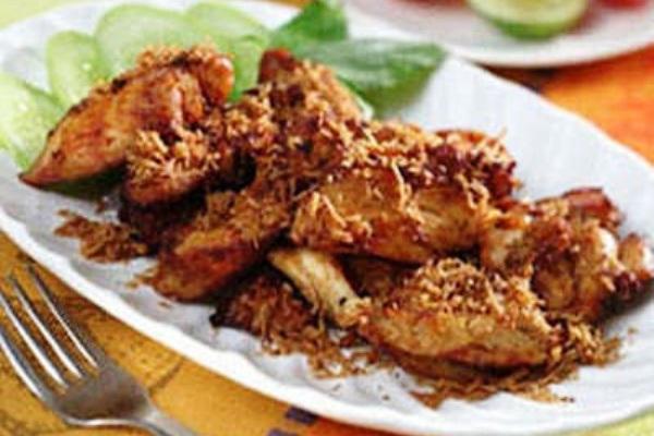 Flattened chicken. Nusantara Culinary