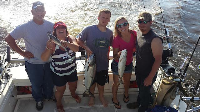family fishing, fun in the sun, fighting fish, catching salmon, salmon recipes