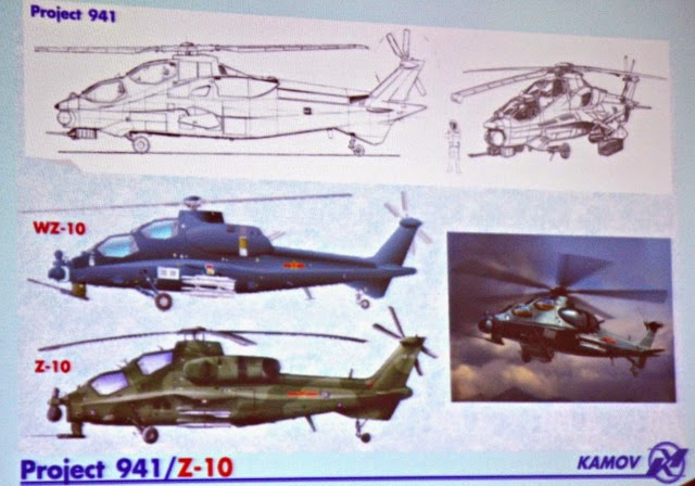 Kamov Designed WZ-10 Attack Helicopter