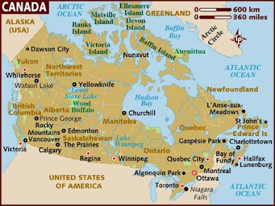 map of canada with cities and provinces. New Canada Province Map