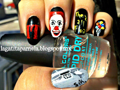 inspired by a scary movie nail art