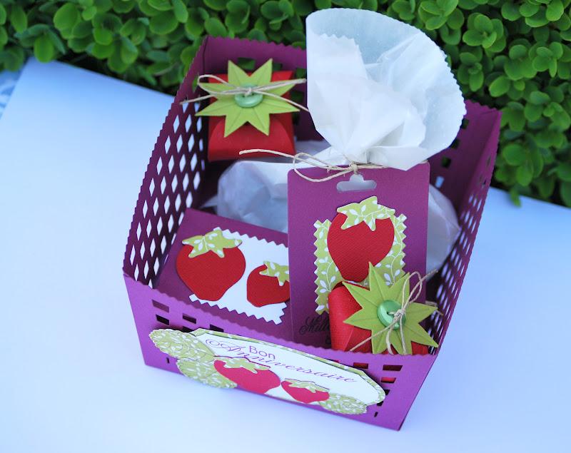 Feebellescrap paniers de fraises le retour for Fraise pour perceuse dijon