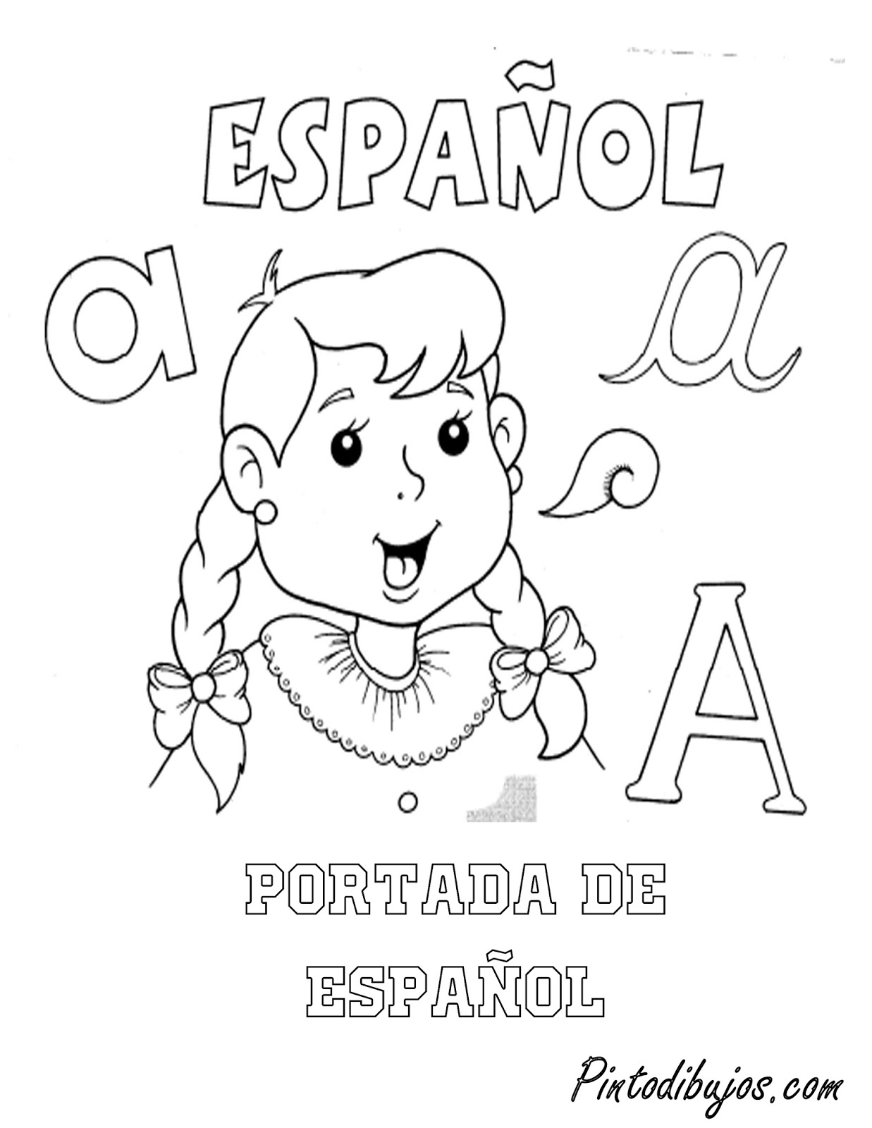 Pinto Dibujos: Portada de Español para colorear