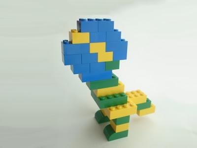 レゴ作品 おもしりとり  グローバル社会怪獣