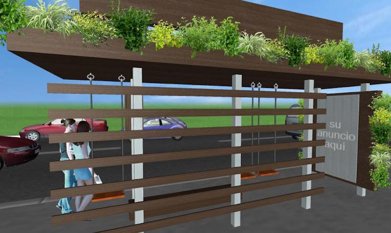 Parabus Ecologico - Columpios 5 - Con Jardin Vertical y Colgante - Zen Ambient - Mexico