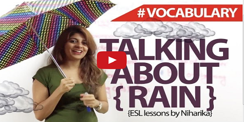 Rain Vocabulary In English