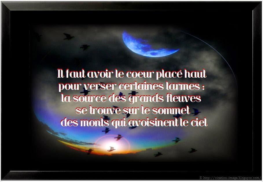 Une citation de tristesse en image