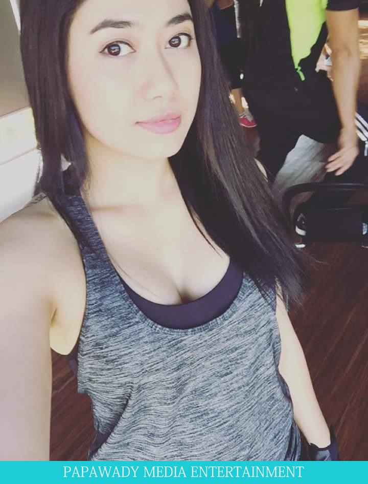 Gym Workout  and Thinzar Wint Kyaw Solo Shots and Selfies