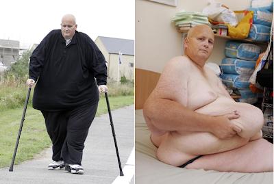 """Quando era chamado de """"o homem mais gordo do mundo"""", mesmo as tarefas"""
