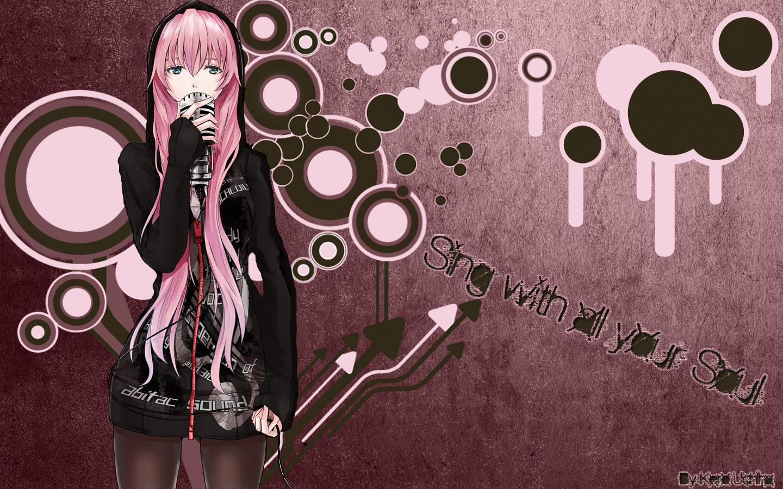 Scarlett Cykes [Meisterin] & Oni Kurohiya [Death Scythe] Konachan.com+-+49359+blue_eyes+long_hair+megurine_luka+microphone+pink_hair+vocaloid