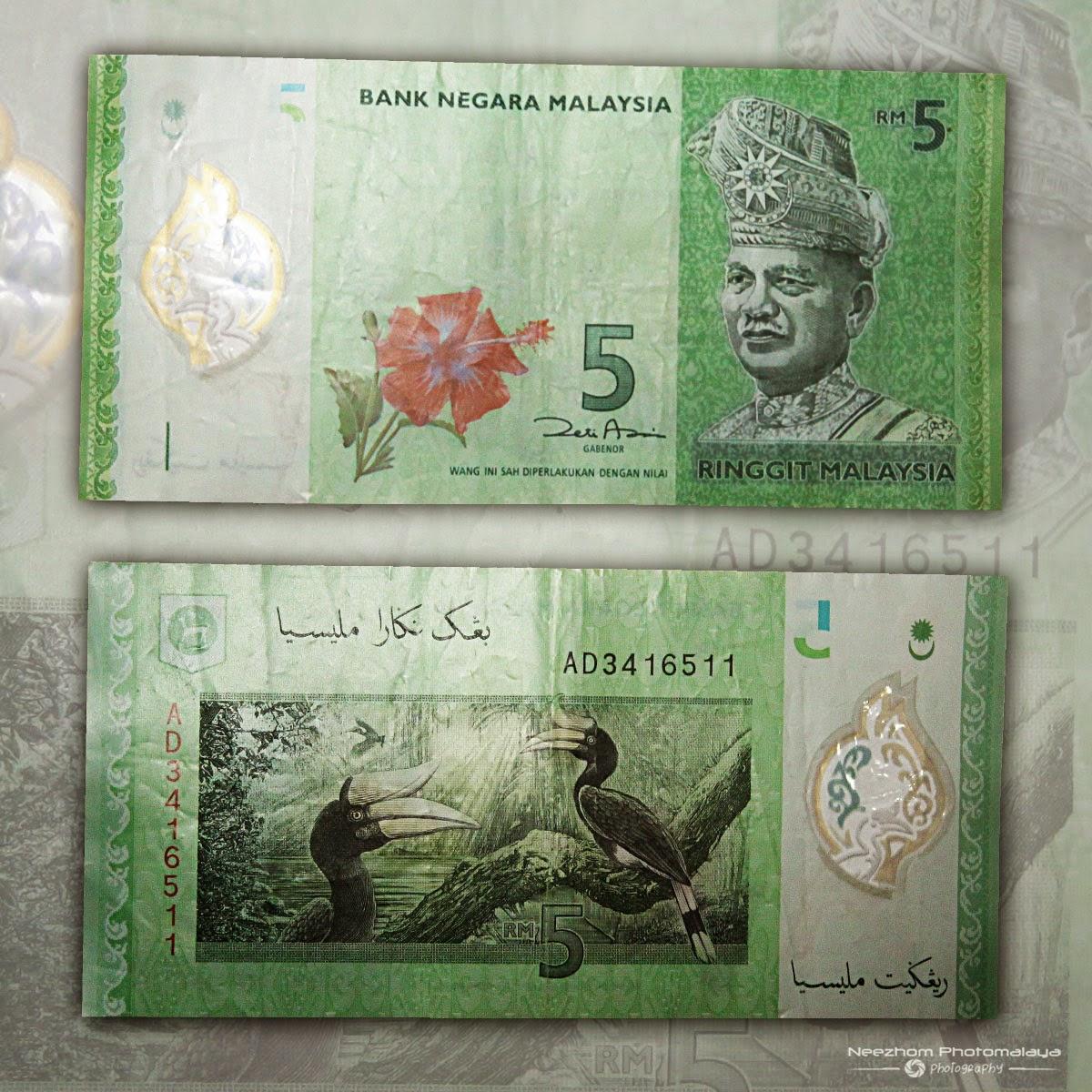 Duit kertas polymer Malaysia 5 Ringgit siri ke 4