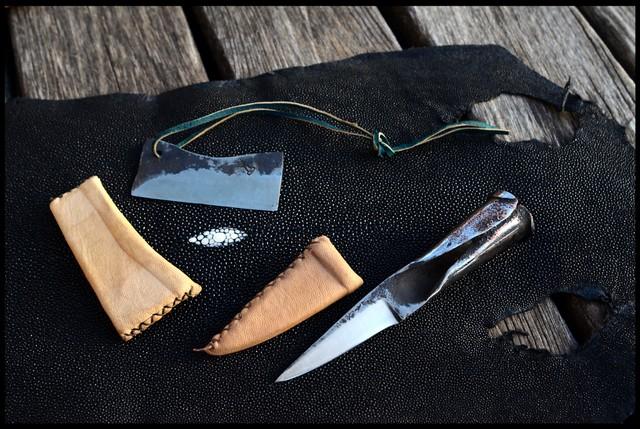 3kg sous terre diff rentes sortes d 39 tui pour couteaux forg s types de cuir - Teinter du cuir ...