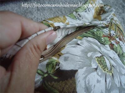 PAP de almofada com zíper invisível