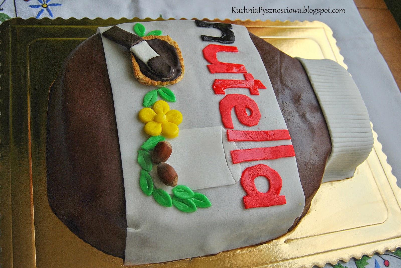 Tort słoik Nutelli dla prawdziwych czekoladoholików