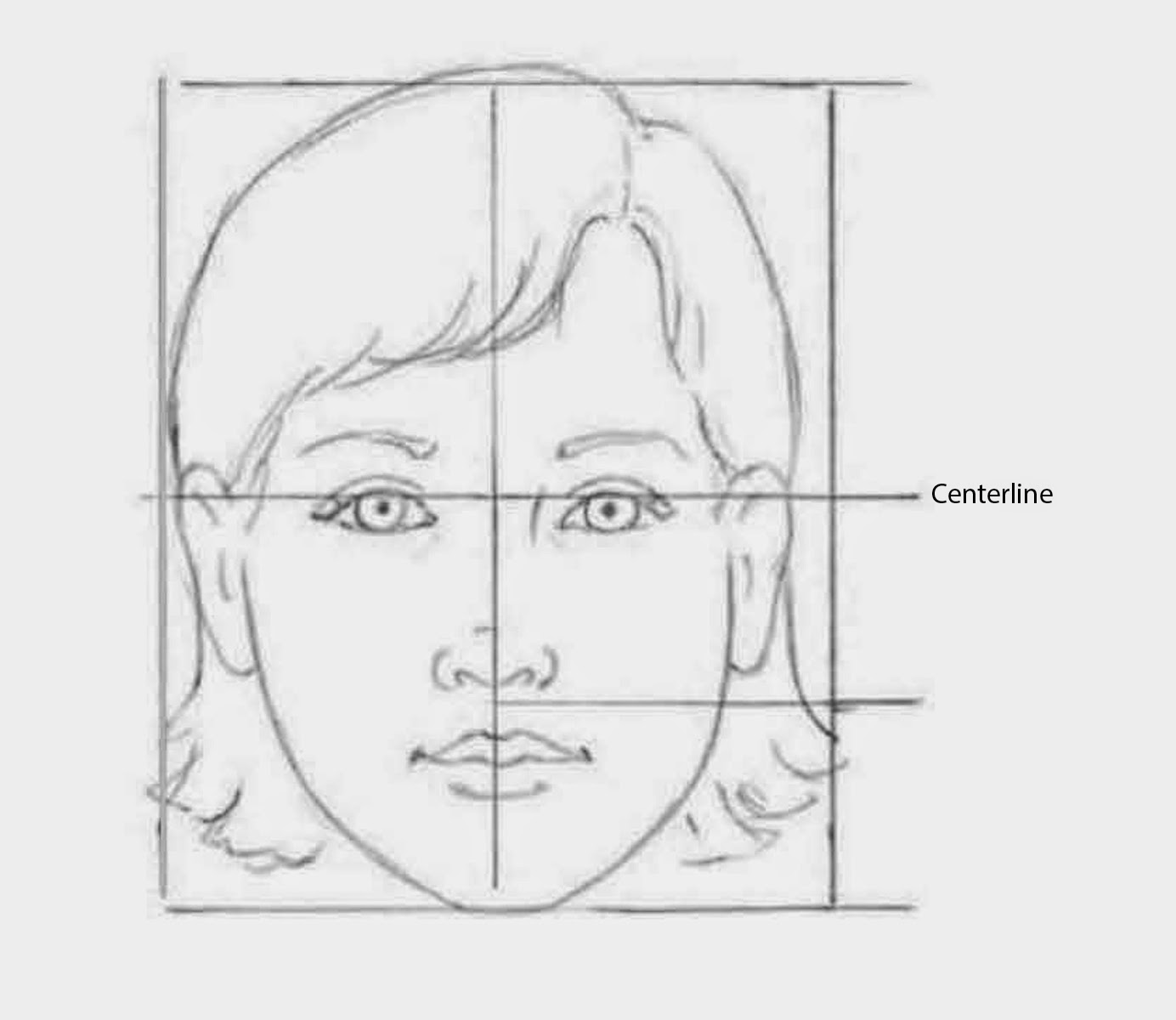 Video, draw facial proportions