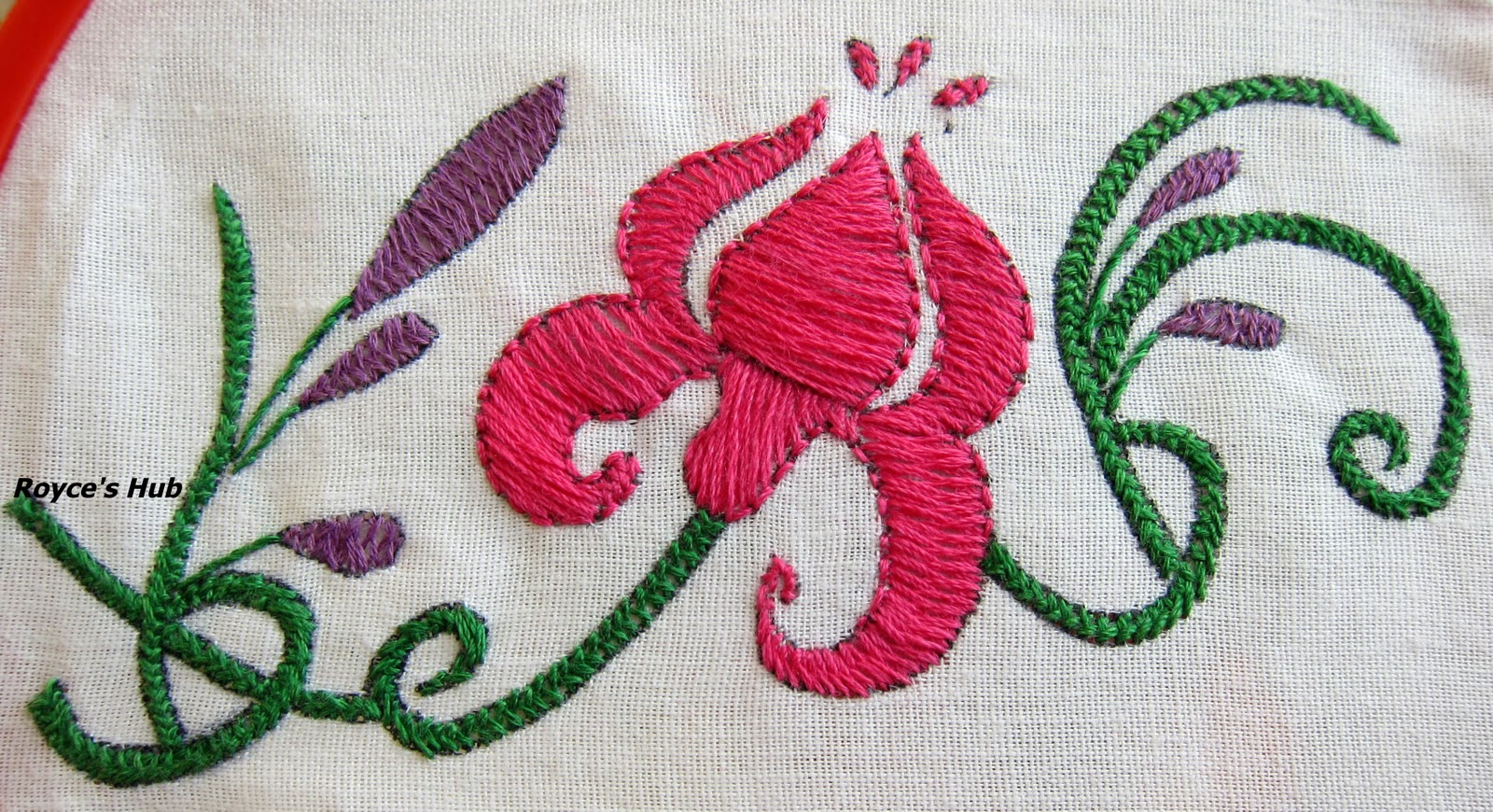 Royce s hub basic embroidery stitches herringbone stitch