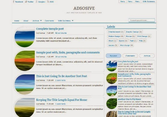 Adsosive Blogger Template