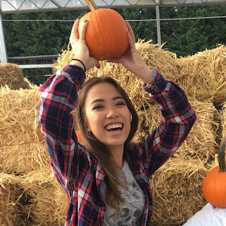 Natalie Tran with pumpkin
