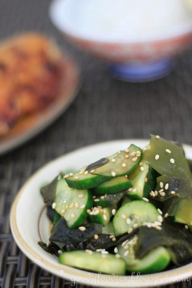 Goodyfoodies recipe japanese cucumber wakame salad recipe japanese cucumber wakame salad forumfinder Choice Image