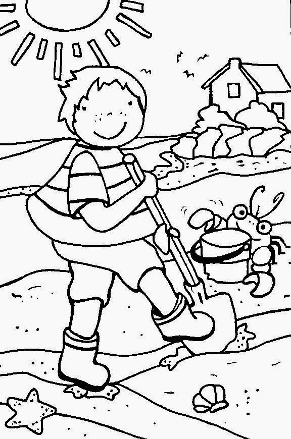 imagens para colorir verão - Espaço Educar desenhos para colorir Desenhos de Férias