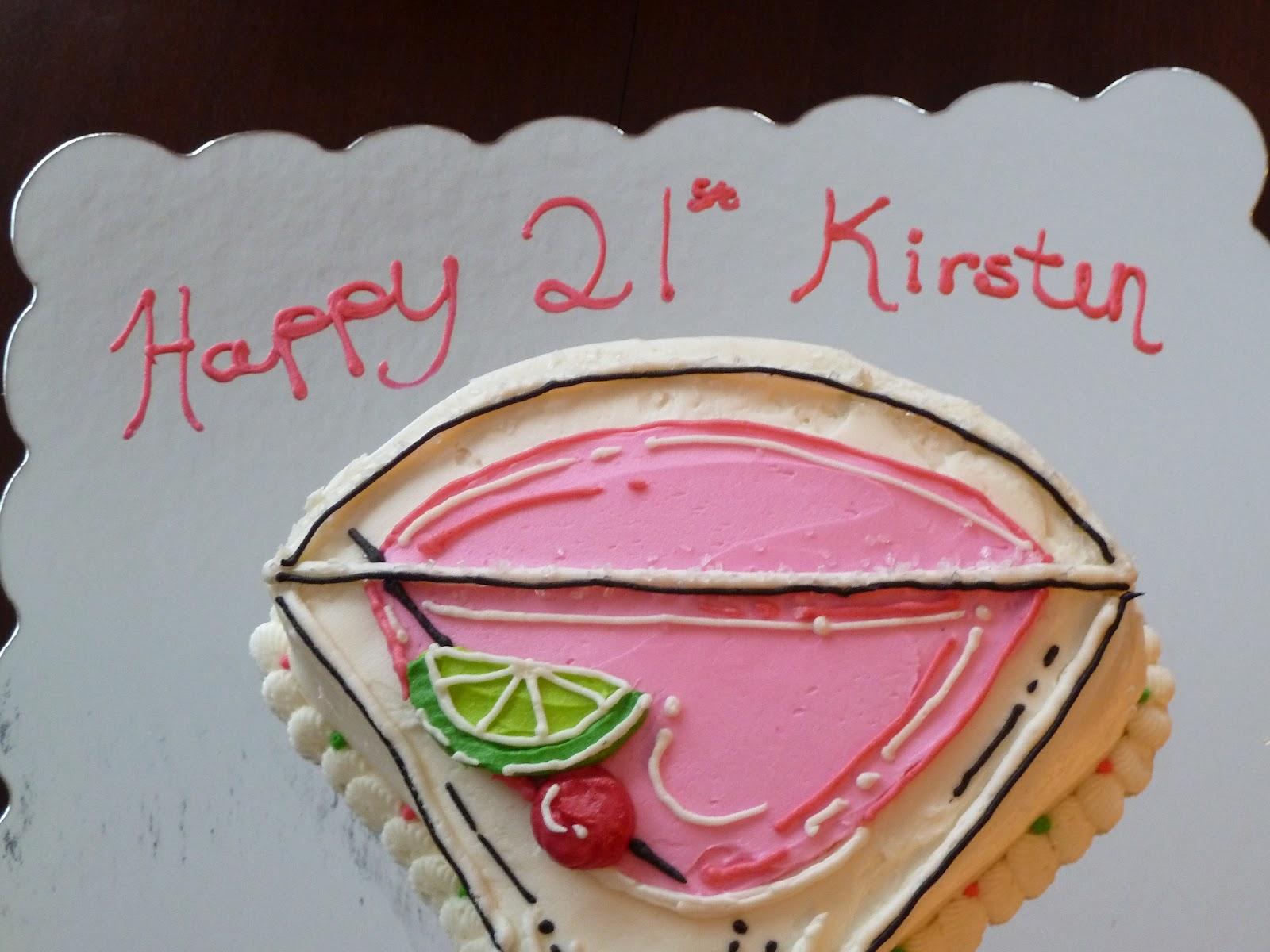 Lamare Bakery Martini Glass 21st Birthday Cake