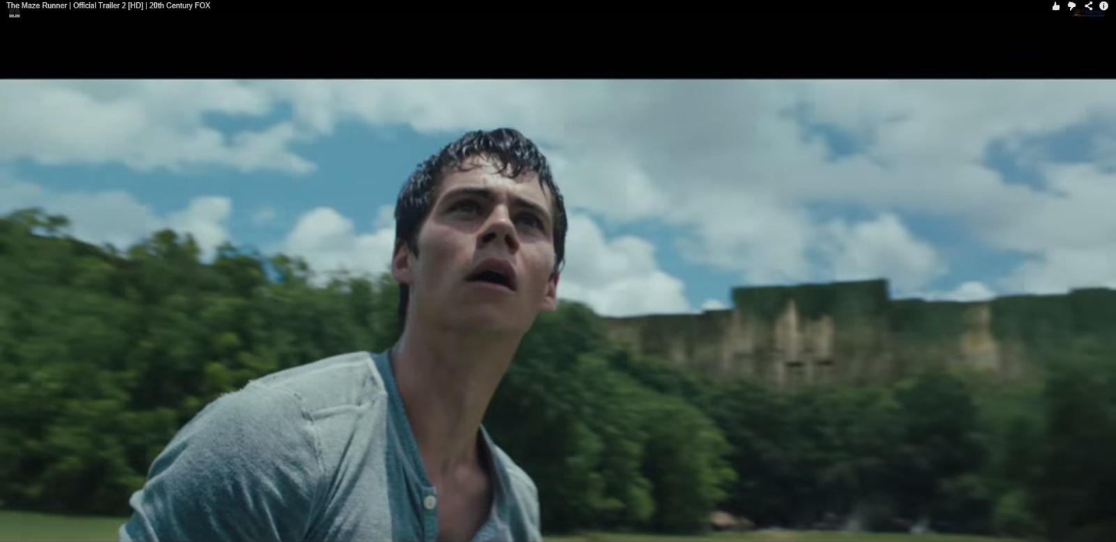 The Maze Runner Trailer Screencap