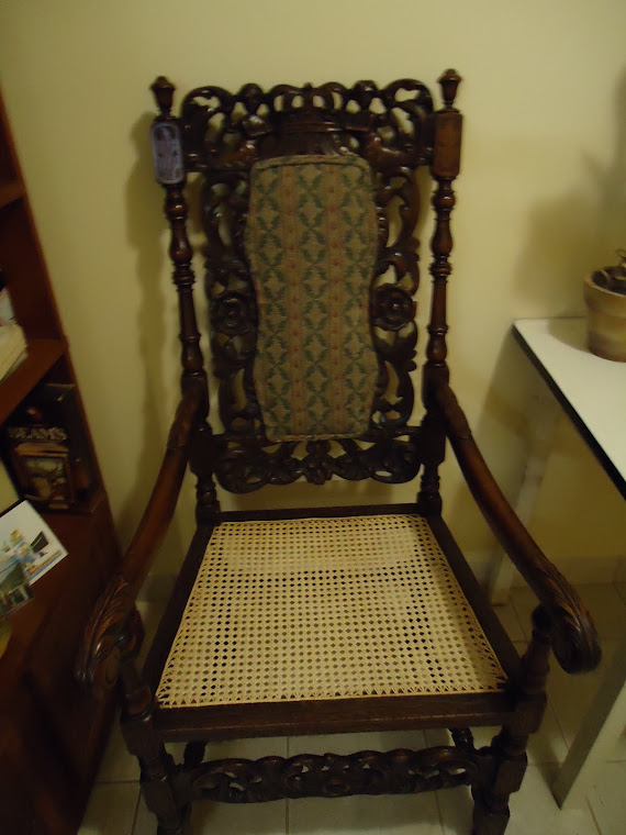 Chair I caned for an antique dealer