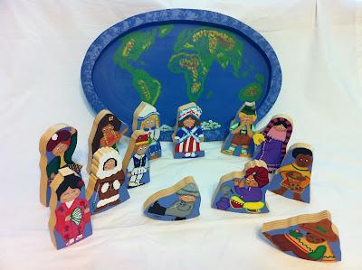 Children Around the Wood Puzzle Wooden Handmade by GrumpaandMe