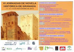 Cartel de las VI Jornadas de Novela Histórica de Granada