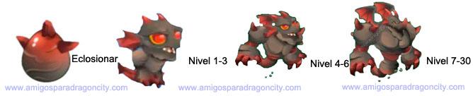 imagen del crecimiento del darkstone dragon