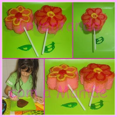 Bolo em formato de flor