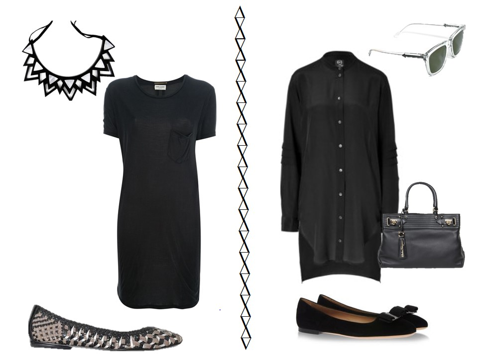 chic sightings black with metallic accessories the