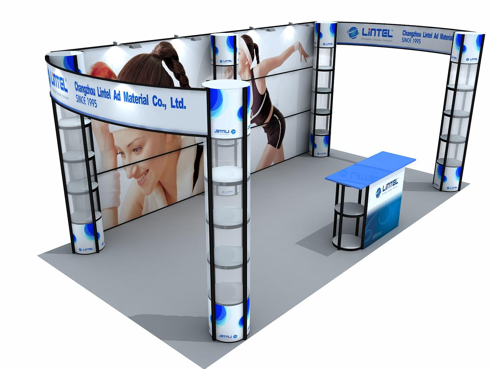 Portable Exhibition Tents : Booth zombie pic portable displays