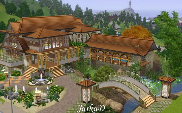 My sims 3 blog asian style house by jarkad Asian style homes