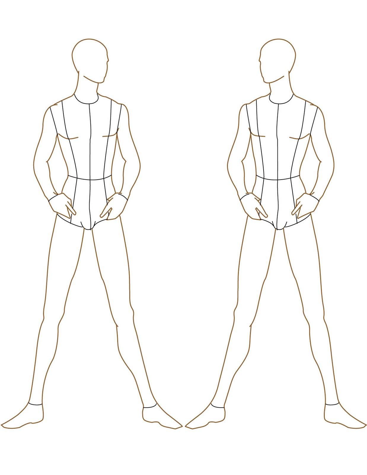 Blank fashion design templates 14
