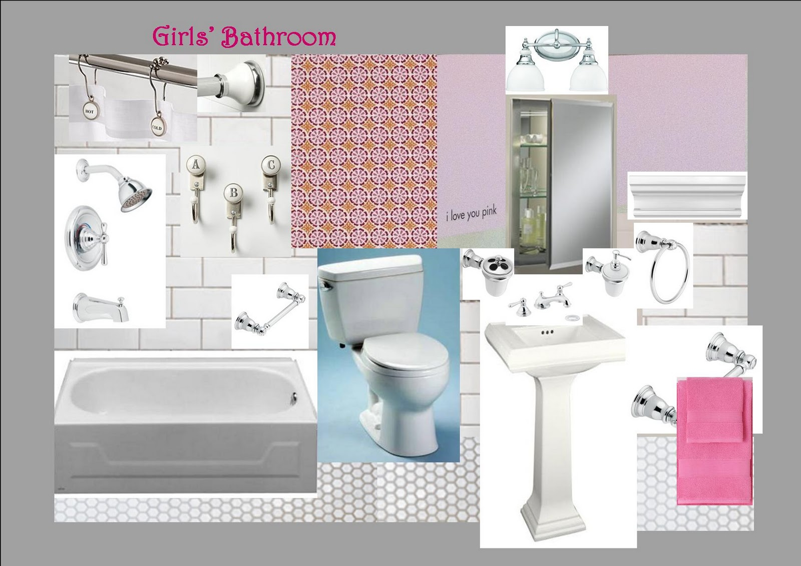 12 devonshire: The Girls\' Bathroom Design Plan