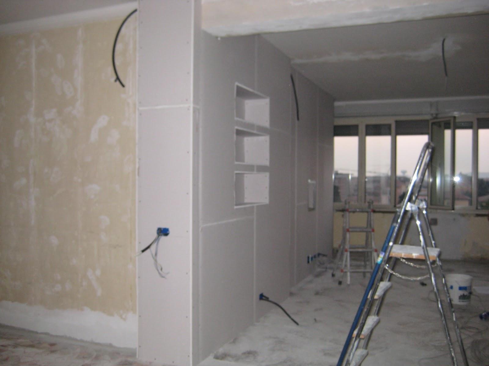 Pannello porta tv in cartongesso pareti attrezzate in cartongesso roma mobili cartongesso - Pareti mobili in cartongesso ...