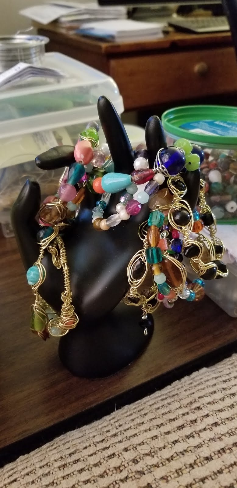 Wire-wrapped/beads ... bracelets I made
