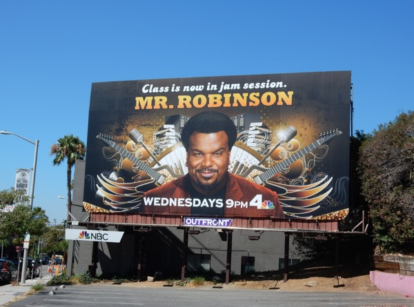 Mr Robinson series premiere billboard