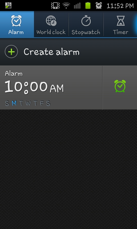 when you ve saved your saved your alarm your clock