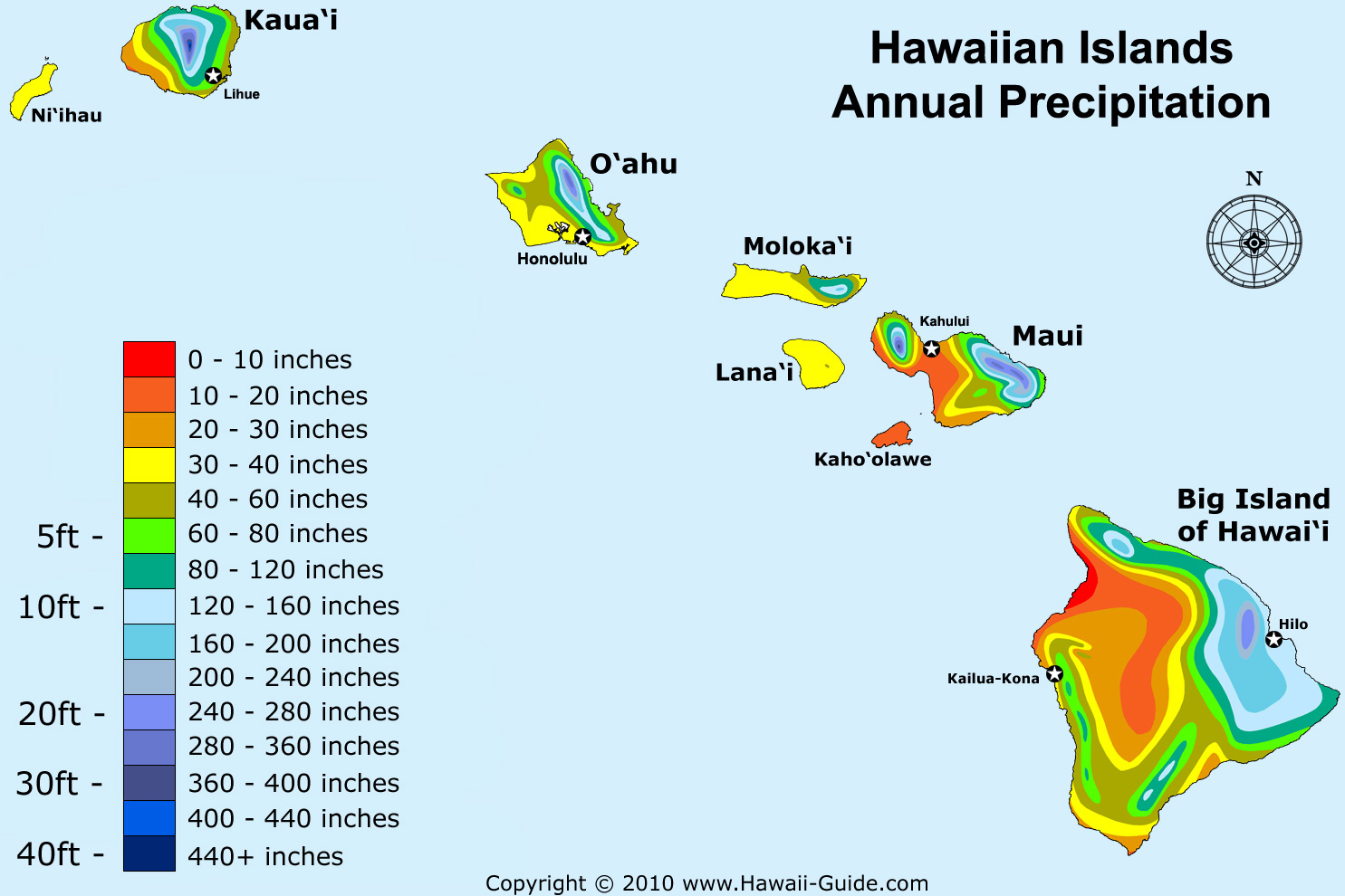 The Great State Of Hawaii - World map with latitude and longitude hawaii
