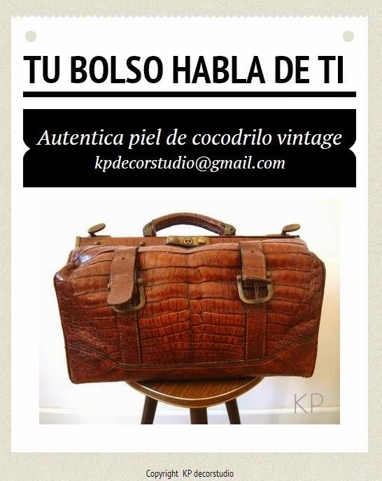 comprar bolso vintage online de piel de cocodrilo