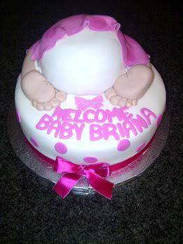 Stork Tea Cake - Baby Briana