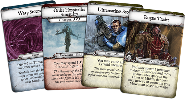 Warhammer 40k relic board game threat cards