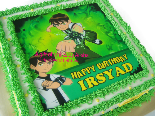 Birthday Cake Edible Image Ben10 Ai-sha Puchong Jaya