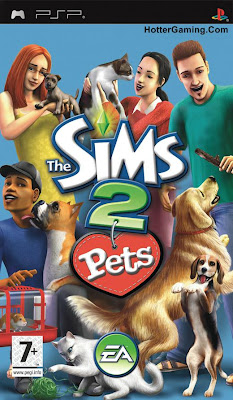 Free Download The Sims 2 Pets Psp Game Cover Photo