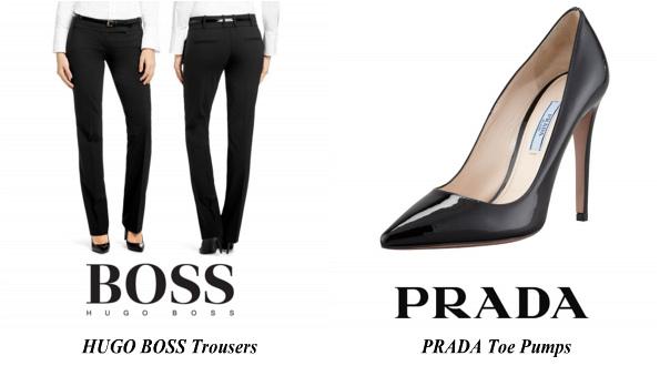 Queen Letizia's HUGO BOSS Trousers and PRADA Toe Pumps